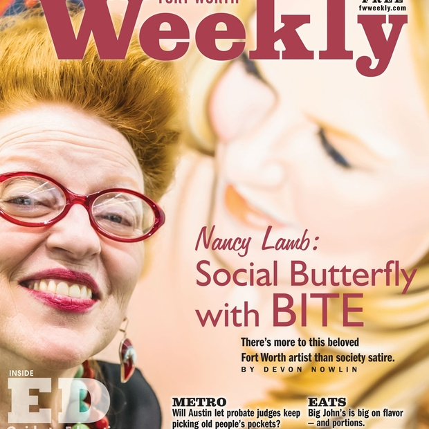 Nancy Lamb on the cover of Fort Worth Weekly