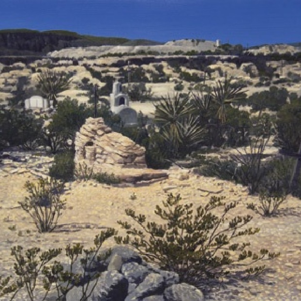 Pat Gabriel, Cinnabar Threads I (Terlingua), Oil on Canvas