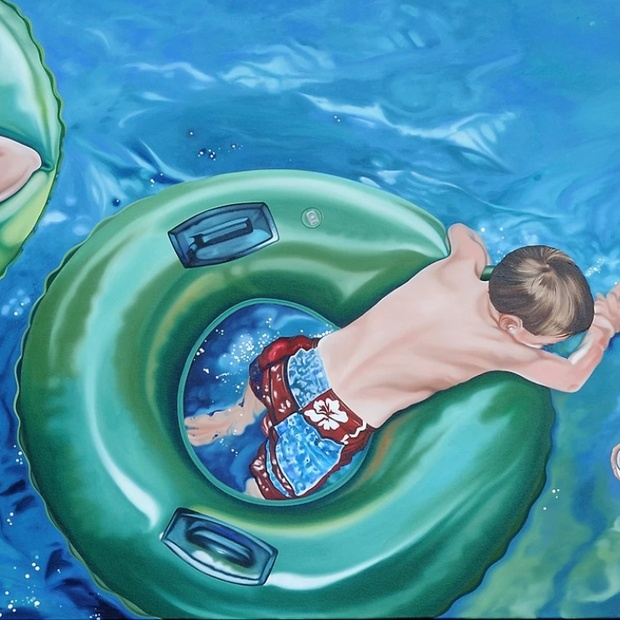 Nancy Lamb, Lazy River, Oil on Canvas